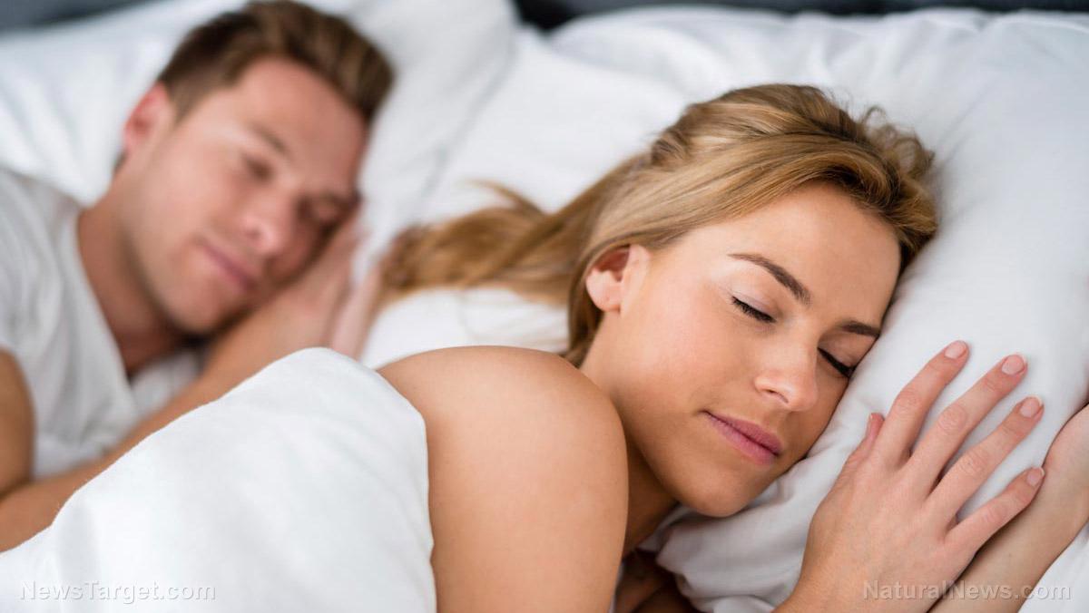 Young Couple Love Sleeping